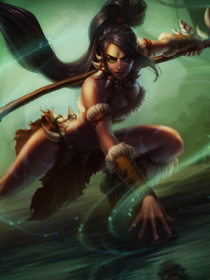 Nidalee la cacciatrice bestiale parrucca Da League of Legends